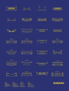 Auto Icon Screen Print Series: Subaru – NOMO Design