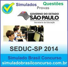 Concurso da Seduc-SP foi aberto recentemente e nós já estamos com Simulados e Questões conforme edital do Concurso Seduc-SP 2014.  http://simuladobrasilconcurso.com.br/questoes-de-concursos  Descubra!!! Compartilhe!!! Curta!!!  Muito Obrigada e Bons Estudos, Simulado Brasil Concurso  #SimuladoBrasilConcurso, #SimuladoSEDUC