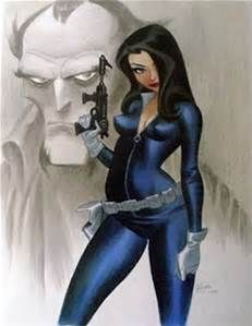 Talia al Ghul is a fictional character who first appeared in Detective Comics #411, published by DC Comics. She is associated with Batman. The character created by writer Dennis O'Neil and artist Bob Brown. Talia al Ghul is the daughter of the supervillain Ra's al Ghul, half-sister of Nyssa Raatko, on-and-off romantic interest of superhero Batman, and mother of Damian Wayne. She is depicted as an anti-hero and super villain. Art by Bruce Timm