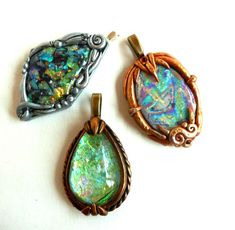 faux opal experiments by ketztx4me, via Flickr