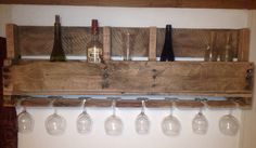Large Reclaimed Wood Pallet Wine Rack with by OTCCustomWoodworks, $50.00