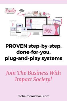 The Business with Impact Society gives you PROVEN step-by-step, done-for-you, plug-and-play systems so that you can stop spinning your wheels and start generating more leads, making more sales, and creating a bigger impact! Best Email Marketing Software, Digital Marketing, Make Money Blogging, How To Make Money, Business Tips, Online Business, Up And Running, Master Class, Spinning