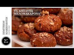 Τα Απόλυτα Μελομακάρονα | Dimitriοs Makriniotis - YouTube Greek Sweets, Pastry Chef, Muffin, Breakfast, Youtube, Recipes, Food, Traditional, Christmas