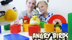 Энгри Бердз - соревнования игрушками вместе с подружками Сашей и Соней. ...