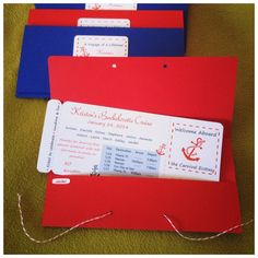 Cruise Boarding Pass Bachelorette Invites by LittlePeanutGallery, $2.75 @Cassie G Aragon