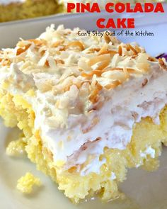 You won't find another coconut poke cake recipe like this one. Creamy Pina Colada Poke Cake is a moist and rich dessert that will bring a little tropical flavor to your life, even during the colder months of the year. Tiramisu Dessert, Cool Whip, Just Desserts, Delicious Desserts, Easter Desserts, Sweet Desserts, Yummy Food, Pudding Cake Mix, Pudding Desserts
