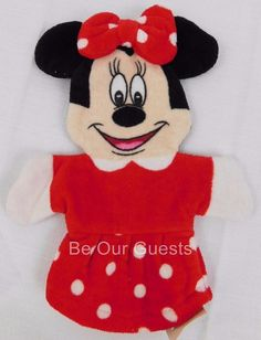 New Walt Disney World Minnie Mouse Bath Mitt Puppet
