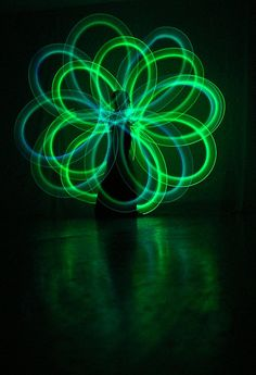 Glow poi spirals - learn how to do these far more effectively with less tangles.