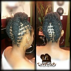 Dreads Styles, Updo Styles, Short Hair Styles, Natural Hair Styles, Short Locs Hairstyles, African Hairstyles, Loc Updo, Dreads Girl, Hair Affair