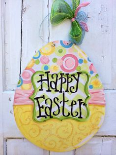 36 Ideas Country Burlap Door Hangers Easter Eggs For 2019 Cross Door Hangers, Burlap Door Hangers, Easter Paintings, Burlap Signs, Easter Crafts, Easter Projects, Easter Ideas, Traditional Doors, Wood Cutouts