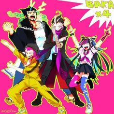 Nekomaru, Kazuichi, Gundham and Ibuki