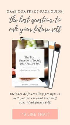 Access your future self with this free guide packed with 37 journal prompts. You'll learn who you want to be and how to become her sooner than you thought possible. Trust Yourself, Finding Yourself, Purpose Statement, Journal Prompts, Goal Journal, Fun Questions To Ask, Feeling Exhausted, Mindfulness Practice, How To Gain Confidence