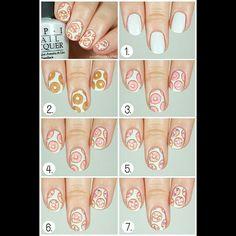 Donut nail art tutorial