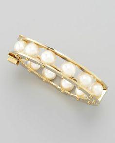 Lele Sadoughi Glass-Pearl Slider Bracelet - Neiman Marcus♥♥♥
