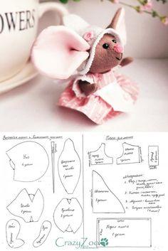 Выкройка игрушки Мышка #template #mouse #toy - #mouse #template #Toy #Выкройка #игрушки #Мышка Teddy Bear, Sewing, Disney, Toys, Animals, Knitted Animals, Animales, Needlework, Couture
