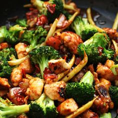 Orange Chicken stir fry. I modified some of the ingredients...and added a tbsp of peanut butter. Yes, I did. Aaaaaamazing!