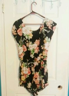 cc308c473 Black Floral Romper, available on my Vinted. Just download the Vinted app  &search kraekrae