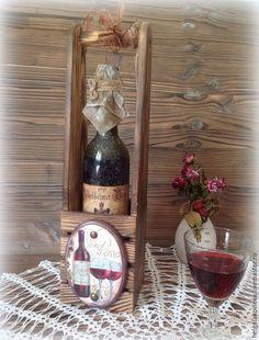 """Купить Винный короб """"Vino Rosso"""" - коричневый, короб для вина, корзина, вино, для дома и интерьера"""