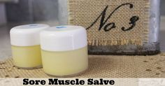 Homemade Muscle Rub with Essential Oils | Sore Muscle Relief Salve