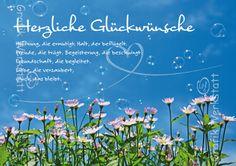 Herzliche Glückwünsche - Doppelkarten - Grafik Werkstatt Bielefeld Birthday Quotes, Birthday Wishes, Very Happy Birthday, Picture Quotes, Poems, Friends, Diy, Messages, Birthday Card Quotes