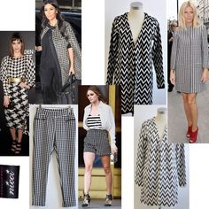 Stunning new items for #Winter16 #trend #NicciWinter16 #chevron #monochrome #houndstooth