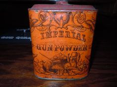 civil war era imperial gun powder tin by eureka powder works (rare) condition