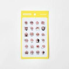 Korea Kakao Talk Friends Character Transparent Mini Sticker Apeach #KakaoFriends #Transparentstickers