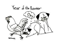 Happy Lunar New Year! We're excited because it's the year of the rooster and that's my year. Plus...drumsticks.   Sunny's just glad that R...