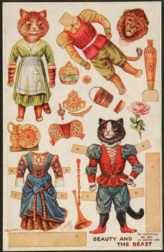 "819: LOUIS WAIN ""CATS"" PAPER DOLL CUT-OUT POSTCARD Tuc : Lot 819"