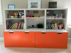 For that reason, I selected Danni's question for this week's Hackers Help so we can all get a load of cool IKEA kids room ideas. Living Room Toy Storage, Childrens Bedroom Storage, Cute Living Room, Ikea Living Room, Toy Storage Units, Ikea Toy Storage, Baby Toy Storage, Storage Ideas, Storage Systems