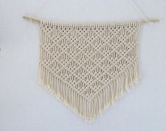 Etsy の Macrame wall hanging by MyFrenchTreasuries