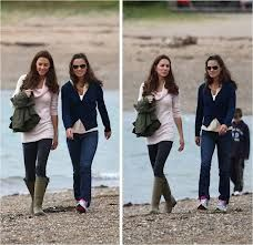 Kate and Pippa (cute use of wellies)
