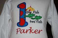 One Fish Two Fish Shirt. $20.00, via Etsy.