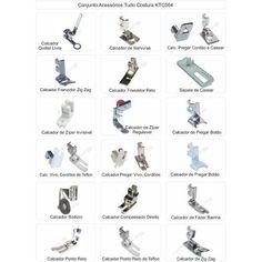 Kit Conjunto Calcadores Costura Domésticos - 18 Itens - R$ 98,00