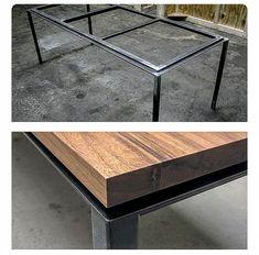 Table, wood - steel