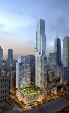 Holy Name tower would become Chicago's sixth tallest skyscraper - Curbed Chicagoclockmenumore-arrownoyes : The supertall One Chicago Square development would replace Holy Name Cathedral's block-sized parking lot Education Architecture, City Architecture, Futuristic Architecture, Amazing Architecture, Chinese Architecture, Future Buildings, City Buildings, Modern Buildings, Office Buildings