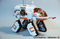 LEGO Land Explorer by lbaixinho. Oh my sweet lord. Lego Cars, Lego Robot, Lego Truck, Lego Lego, Legos, Lego Ship, Lego Spaceship, Lego Mechs, Toys