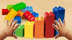 Learn Colors with Building Block Lego | Surprise Eggs Hammer Nursery Rhy...