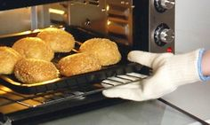 Pair of Heat-Resistant Oven Gloves