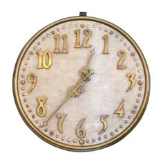 Marble and Bronze Bank Clock | From a unique collection of antique and modern wall clocks at https://www.1stdibs.com/furniture/wall-decorations/wall-clocks/