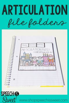 These articulation file folders are a fun and engaging speech therapy activity! They can be glued into an interactive notebook or stand alone!