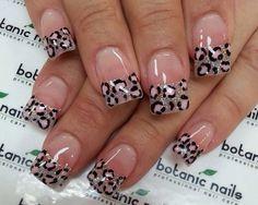 Super nails design french tip glitter animal prints Ideas French Nail Designs, Nail Art Designs, Nails Design, French Nails, Botanic Nails, Leopard Print Nails, Pink Leopard, Leopard Prints, Funky Nails