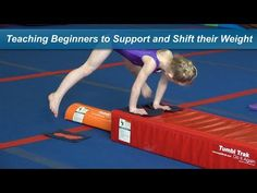 Teaching Beginners to Support and Shift their Weight In a previous training tip, we set up a drill in such a way that allowed beginners to work on inverting . Gymnastics Warm Ups, Toddler Gymnastics, Gymnastics Lessons, All About Gymnastics, Gymnastics Stuff, Gymnastics Coaching, Youth Cheerleading, Kids Class, Acro