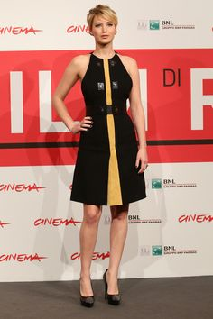 Actress Jennifer Lawrence attends the 'The Hunger Games: Catching Fire' Photocall during the 8th Rome Film Festival at the Auditorium Parco Della Musica on November 14, 2013 in Rome, Italy.