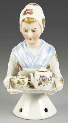 "5: Goebel ""Chocolate Lady"" Porcelain Half Doll. : Lot 5"