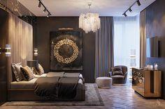 Anton Krat on Behance Modern Master Bedroom, Master Bedroom Design, Luxury Homes Interior, Interior Design, Small Apartment Interior, Luxury Bedroom Design, Luxurious Bedrooms, Small Apartments, House Design