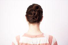 Hochsteckfrisur für mittellange Haare Tutorial Dutt Hair Tutorial Long Bob