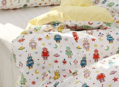 Cute and Vivid Robots Pattern 20s Cotton Oxford by luckyshop0228, $12.60