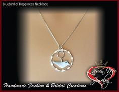 Sterling Silver & Mother of Pearl Blue Bird of Happiness Necklace // Elegant // Forever Jewelry // Gift // My Marilyn // Limited edition