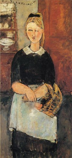 The Pretty Housewife - 1915 Canvas Print / Canvas Art by Modigliani Amedeo Amedeo Modigliani, Modigliani Paintings, Art Paintings, Paul Cezanne, Italian Painters, Italian Artist, Pablo Picasso, Karl Schmidt Rottluff, Art Moderne